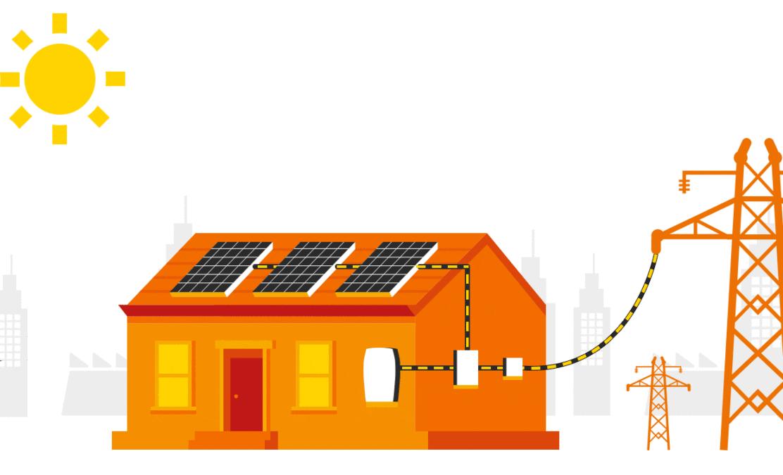 autoconsumo solar con vertido a la red eléctrica